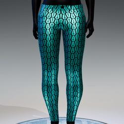 Coffin Cross Metallic Skinny Jeans [Aqua]