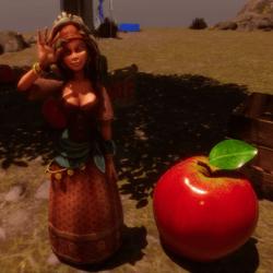 Bauernmädchen mit 4 Animationen