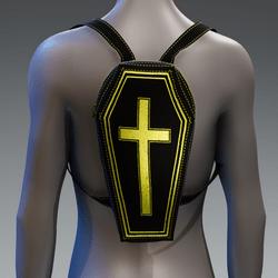Metallic Coffin Cross Backpack [Yellow]