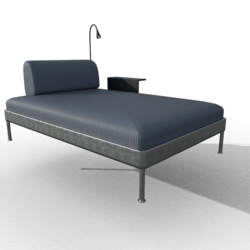 DELAKTIG Chaise w/ Table + Lamp