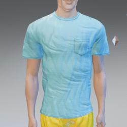 Blue Pocket T-Shirt - Male