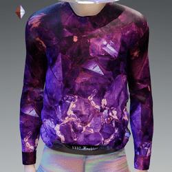 Purple Amethyst Crystal Sweatshirt
