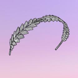 Autumnization Leaves Headband Silver