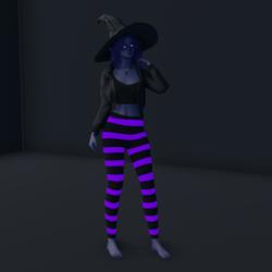 Halloween Leggings Emissive Purple