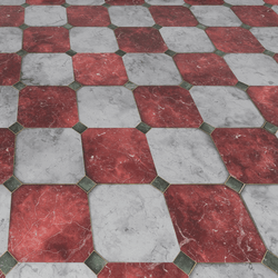 Marble Floor-Red and White
