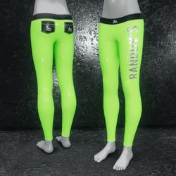 Leggings Latex metallic green
