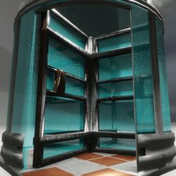 Revolving Door Steel and Glass - Door