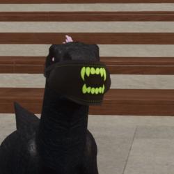 Raptor Mask with teeth green