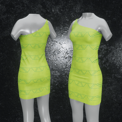 Dress Maja Triangle green