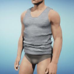 Grey shirt with flecks / for men