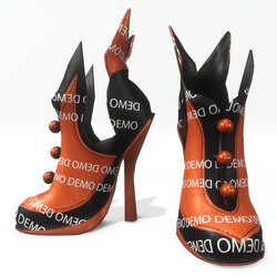 """Halloween witch shoes for """"Alina Daisy"""" and """"Nicci"""" avatar - demo"""
