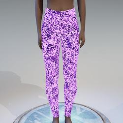 Emissive violet glitter leggings