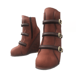 "Wedge boots for ""Alina Daisy"" and ""Nicci"" avatar - brown"