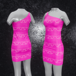 Dress Maja Triangle pink