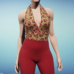 Red pants with top