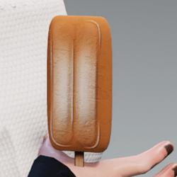 Ice cream orange in arm