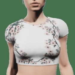 Cherry Blossom Crop Top