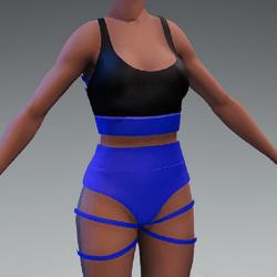 TnT_pole dance outfit blue