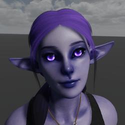 Void Elf Avatar (Emissive Eyes)