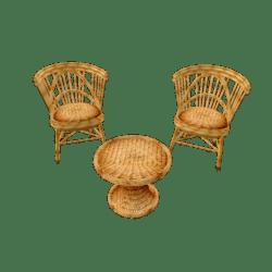 Bamboo Chairs Set