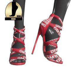 Strappy stiletto sandals for h2ai high - demo