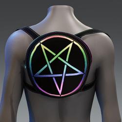 Metallic Pentagram Backpack [Rainbow]