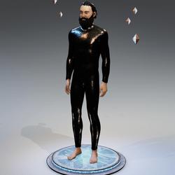 Synthetic Reptile Skin Bodysuit