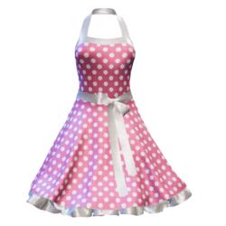 Fifties Rockabilly Polka Dot Dress pink