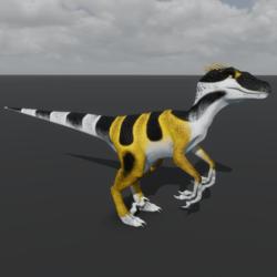 Raptor Avatar - Black & Yellow Gecko