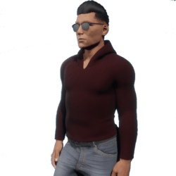 Slim sweatshirt - burgundy color