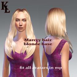 Marccy hair blonde base