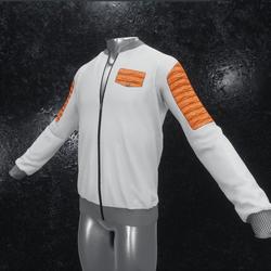 Leather Jacket Ron white orange