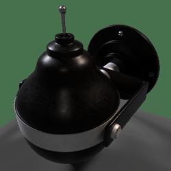 Art Deco Soap Dispenser Dark Metal