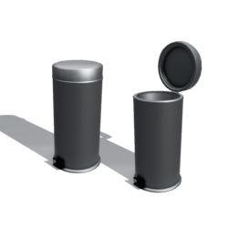 Silver trash can [SCRIPTED open/close]