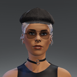 TKA Black cap and hair collected