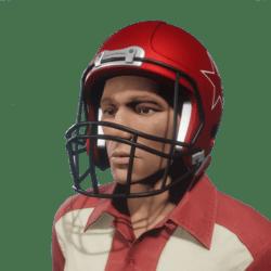 american football red helmet male