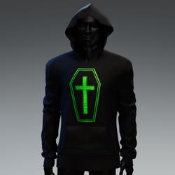 Unisex Coffin Cross Hoodie [Green]