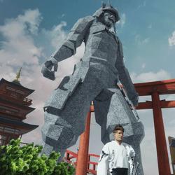 Giant Samurai Statue