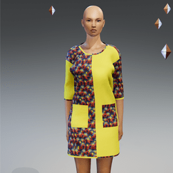 Short Yellow Ankara Gown