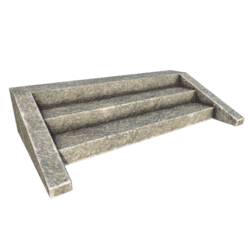 Stone Stairs - 3 steps