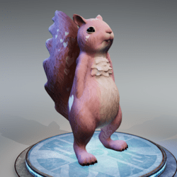Squirrel -  Dreamy Pink