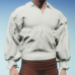Poet Shirt in White Linen
