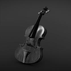 Stradivari Violin Black