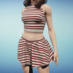 Luna outfit with red lines