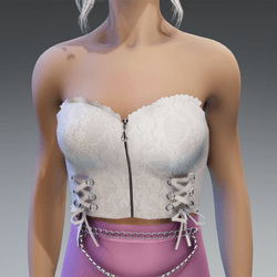"""Gothic Top """"Celly"""" in White"""