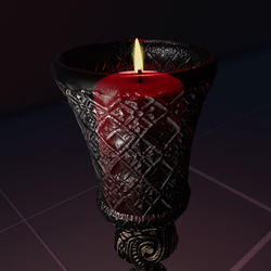 Red Votice Candle  [A]