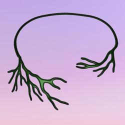Bare Tree Choker Green
