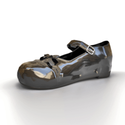 Mary-Jane Shoes In Patent Leather Black