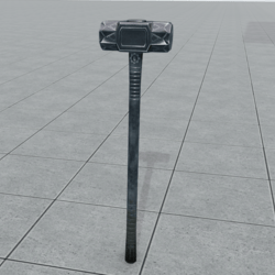 Iron Sledgehammer Stylized | For Worlds