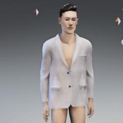 Men's Suit Jacket white